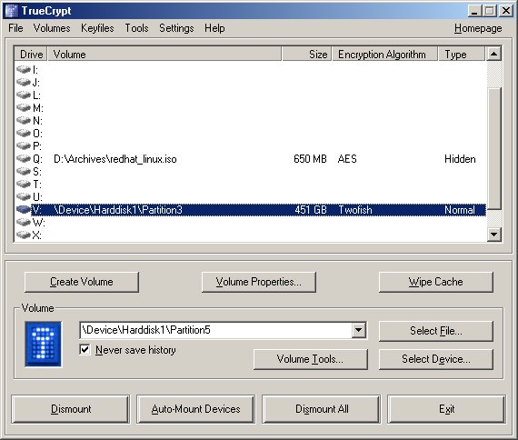 Truecrypt Screenshot und Windows, Quelle: http://www.truecrypt.org/screenshots.php